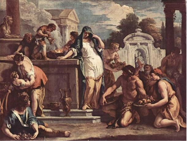 Sacrifice to the goddess Vesta by Sebastiano Ricci