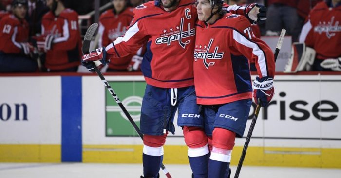 9b6534d7ffd Capitals open Stanley Cup defense with 7-0 rout of Bruins