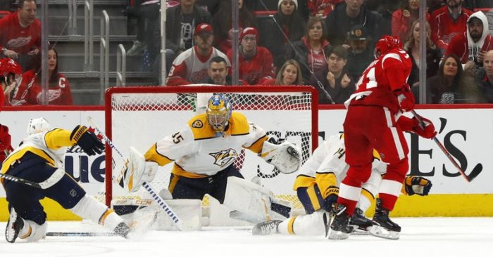 Larkin S Overtime Goal Sends Red Wings Past Predators 4 3 Thebl Com