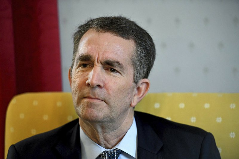 Virginia Gov. Ralph Northam talks during an interview at the Governor's Mansion, Saturday, Feb. 9, 2019 in Richmond, Va. (Katherine Frey/The Washington Post via AP)