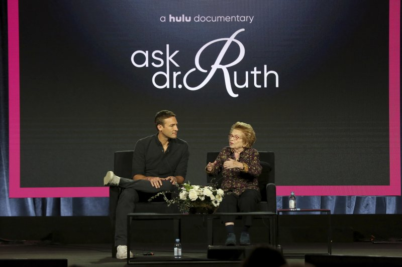 Ryan White, left, and Dr. Ruth Westheimer participate in the