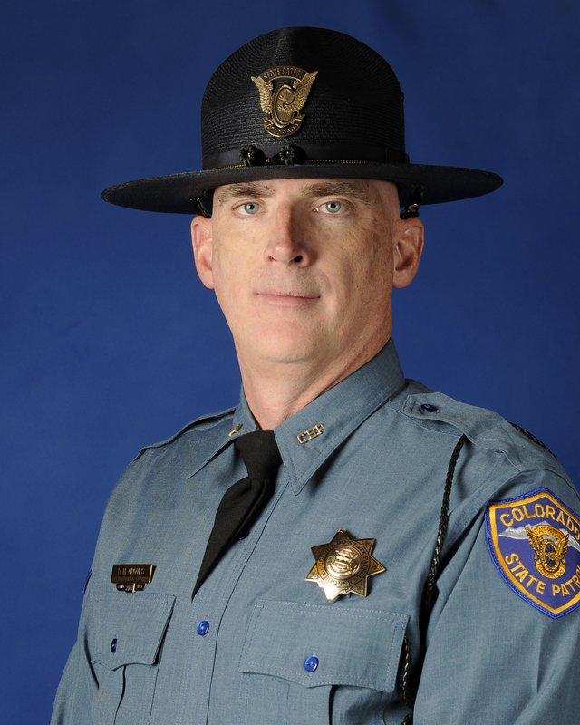 This undated photo provided by the Colorado State Patrol shows Cpl. Daniel Groves. The state patrol officer was hit and killed by a car as he was helping another driver who had slid off of Interstate 76 northeast of Denver. (Colorado State Patrol via AP)
