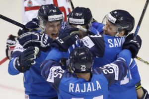 Finns beat Canada 3-1, Russia tops Norway at hockey worlds