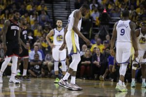 Warriors' Durant likely out for Games 1 and 2 vs Blazers
