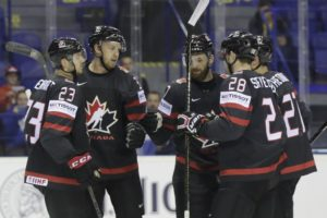 Canada tops France at hockey worlds, Sweden routs Austria