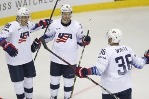 DeBrincat scores twice as US routs Denmark 7-1 at worlds