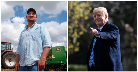 Farmers follow President Trump into a trade war