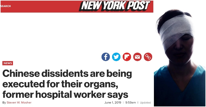 New York Post publishes account of former hospital worker who witnessed China's forced live organ harvesting