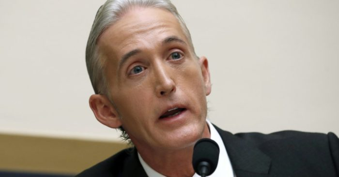File photo of Nov. 14, 2017, Representative Trey Gowdy, Republican of South Carolina. (Photo AP/Alex Brandon)