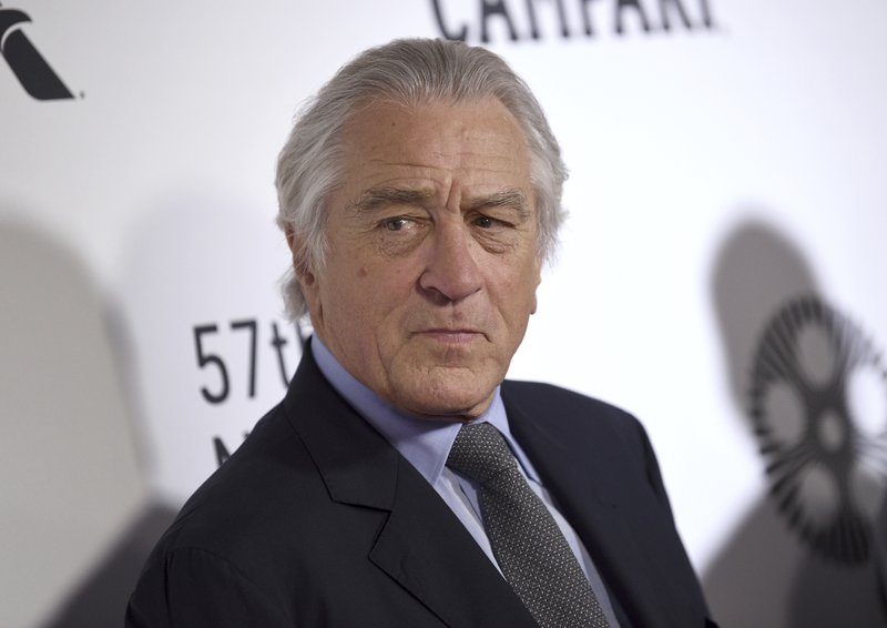 FILE - This Sept. 27, 2019 file photo shows Robert De Niro at the world premiere of
