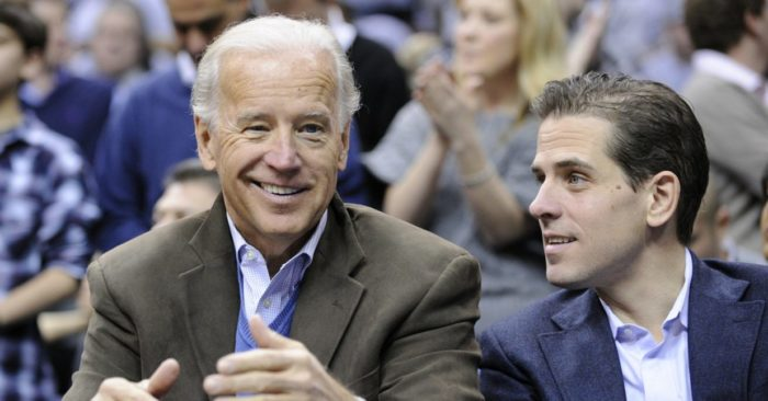 Former Vice President Joe Biden, left, with his son Hunter in 2010 (AP/Nick Wass, file)