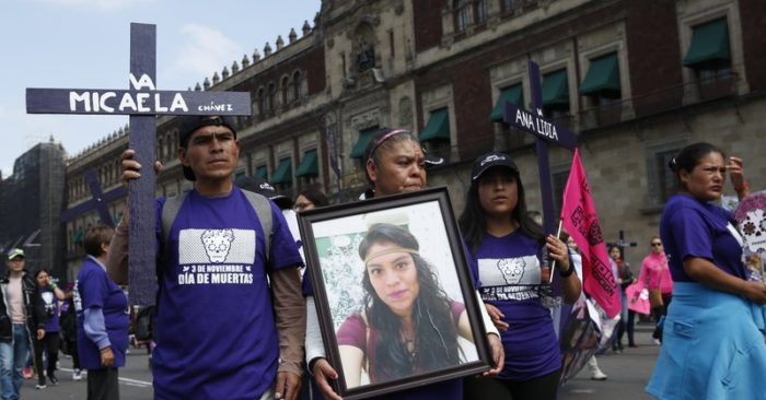 Demonstrators demand halt to killings of women in Mexico