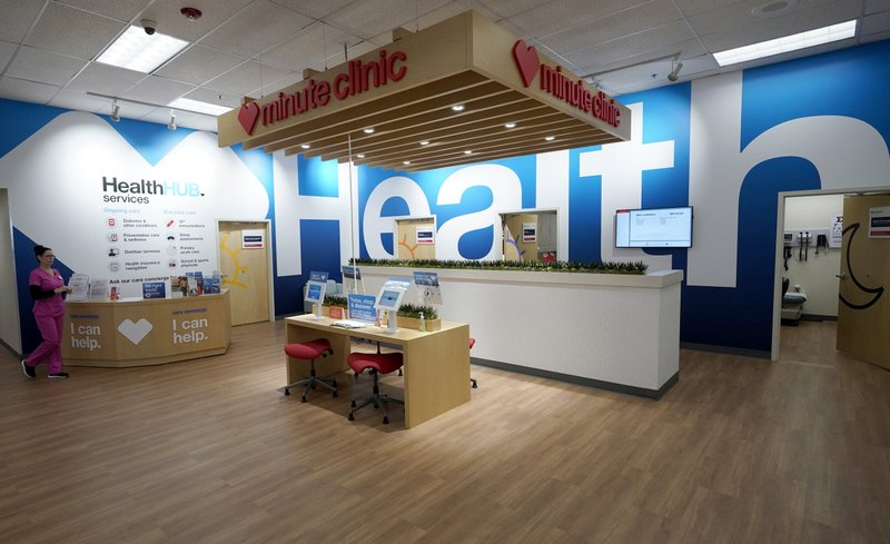 FILE - In this May 30, 2019, file photo, the new HealthHUB is shown inside a CVS store in Spring, Texas. CVS Health reports financial results Wednesday, Nov. 6. (AP Photo/David J. Phillip, File)