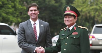 Esper accuses China of intimidating smaller Asian nations