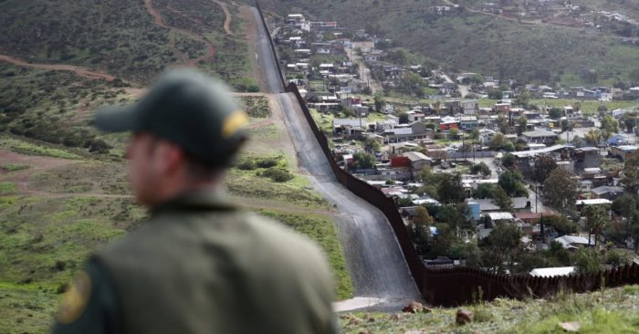 U.S. officer patrols the border with Mexico. (AP)