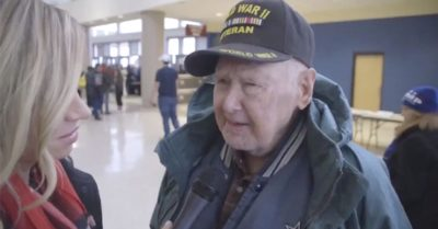 'The first real president in my 96 years' says World War II veteran