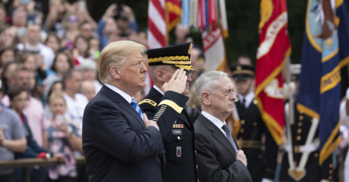 President Donald J. Trump participates in a Memorial Day ceremony | May 28, 2018 (Official White House photo by Andrea Hanks)