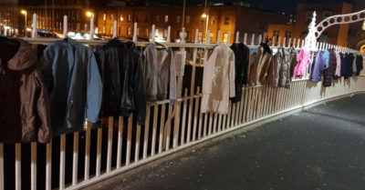 'Please take one' People hang coats on Dublin bridge for needy homeless