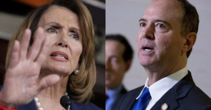 Nancy Pelosi, Democrat, Speaker of the U.S. House of Representatives and Adam Schiff, Democrat, Chairman of the House Intelligence Committee. (AP/Andrew Harnik - AP/J. Scott Applewhite)