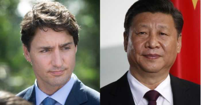 Canadian Prime Minister Justin Trudeau and his Chinese counterpart Xi Jinping (Archive images / Shutterstock)