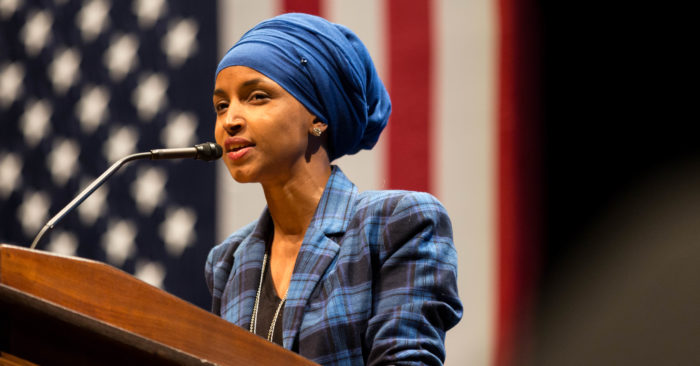 On October 4, 2016, then-Democratic candidate for the House, Somali-American Ilhan Omar (Lorie Shaull/CC0)