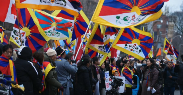 Pro-Tibet activists protest Chinese regime's distortion of the country's situation