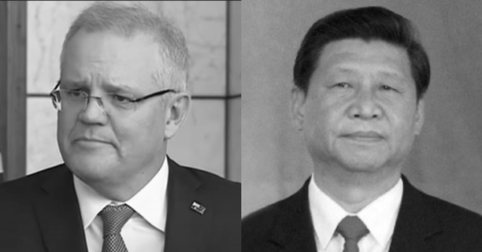 "Australia questions Chinese regime for ""undermining democracy and creating fear and division"""