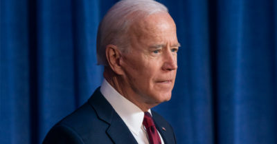 Biden would not complete his first term in the White House if elected, according to a new poll