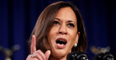 Democratic vice president nominee Kamala Harris caught lying four times that President Trump is racist