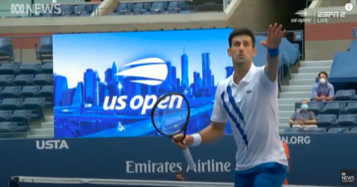 Novak Djokovic Defaulted From U S Open After Hitting Line Judge In Throat With A Tennis Ball The Bl