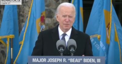 Joe Biden mentions his death on eve of Inauguration Day
