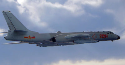 CCP seeks to intimidate Taiwan by flying over its coastline with bomber planes