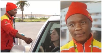 Gas attendant pays for stranded motorist's fuel and warms South African hearts