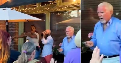 Elderly patron draws gun after armed Black Lives Matter activists gather outside Louisville restaurant