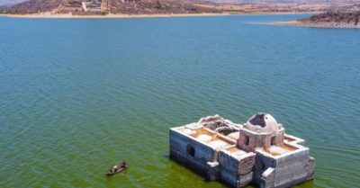 Historic church reemerges after 42 years underwater in central Mexico