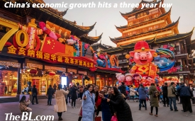 The BL news-The economic growth of China hits a three year low