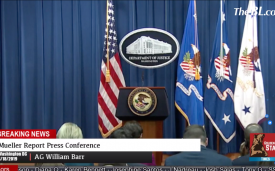 AG William Barr Live Mueller Report Press Conference