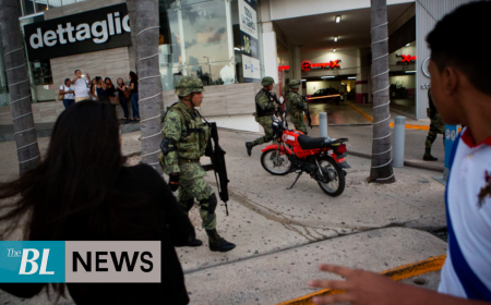 Shootout between drug traffickers in Mexico