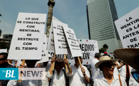 Thousands march against Mexico's president