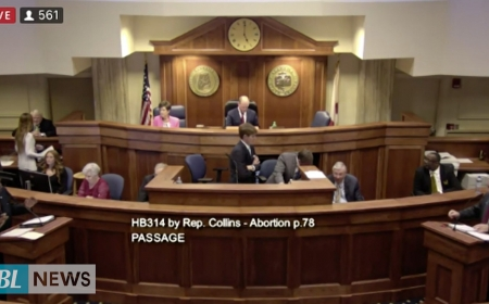 Alabama Approves a ban on nearly all abortions