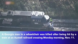 Georgia man in wheelchair killed by train while crossing tracks !