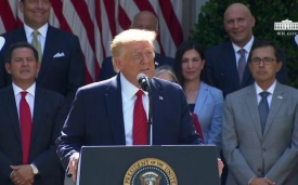 President Trump signs an executive order on the White House hispanic prosperity initiative