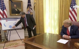 President Trump receives a law enforcement briefing on keeping American communities safe