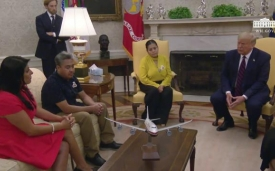 President Trump meets with the family of SPC Vanessa Guillen