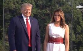 President Trump and the first lady participate in the 2020 salute to America