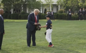2020 opening day at the White House