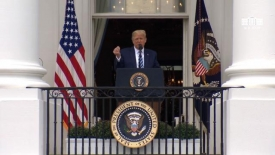 President Trump delivers remarks at a peaceful protest for law and order