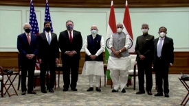 On India trip, Pompeo warns of China 'threats'